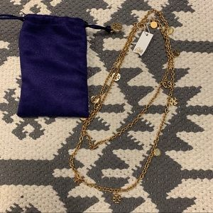 Tory Burch Rosary Charm Necklace